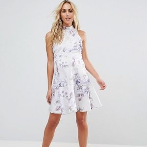 ASOS Maternity Scuba Floral Skater Mini Dress